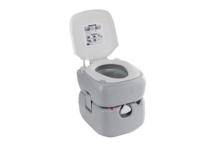 OZTRAIL TWIN FLUSH PORTABLE TOILET POTTY POTTI OUTDOOR CAMP CAMPING CARAVAN NEW