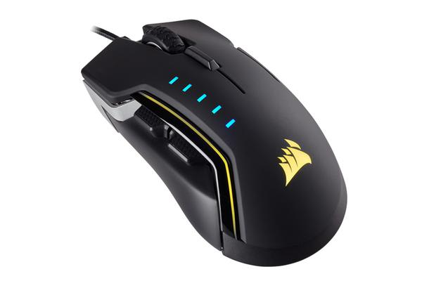 Corsair Gaming GLAIVE RGB Gaming Mouse, Backlit RGB LED, 16000 DPI, Optical, Aluminium
