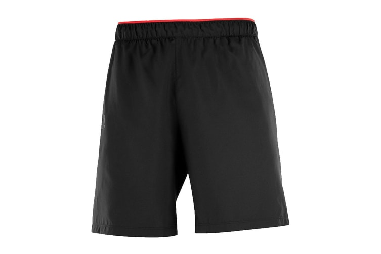 Salomon Pulse Shorts Men's (Black/Fiery Red, Size Medium)