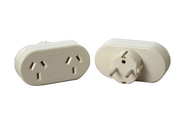 Korjo Travel Double Adapter (Europe)