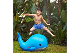 Sunnylife Inflatable Moby Dick Whale Sprinkler | garden pool toy water fountain