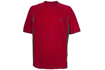 Trespass Mens Eddie Active Short Sleeved Base Layer Top (Brick Red)