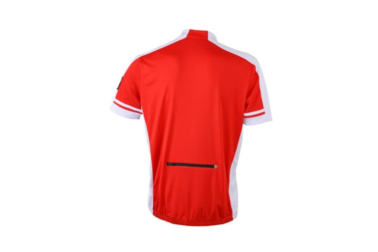 James and Nicholson Mens Full Zip Bike T-Shirt (Red) (M)