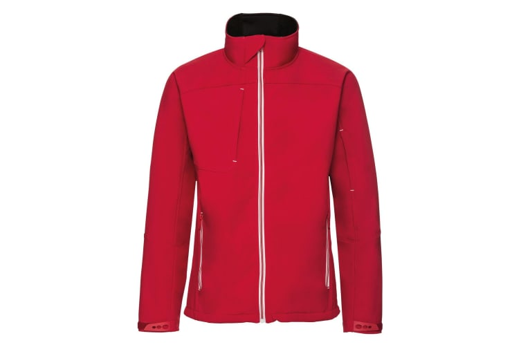 Russell Mens Bionic Softshell Jacket (Classic Red) (L)
