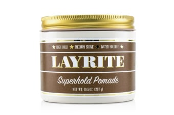 Layrite Superhold Pomade (High Hold  Medium Shine  Water Soluble) 297g/10.5oz
