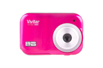 Vivitar ViviCam X054 Digital Camera/10MP/Photo/Video/1.5inch LCD/AAA/USB/Pink