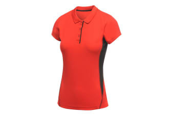 Regatta Activewear Womens/Ladies Salt Lake Lightweight Short Sleeve Polo Shirt (Classic Red)