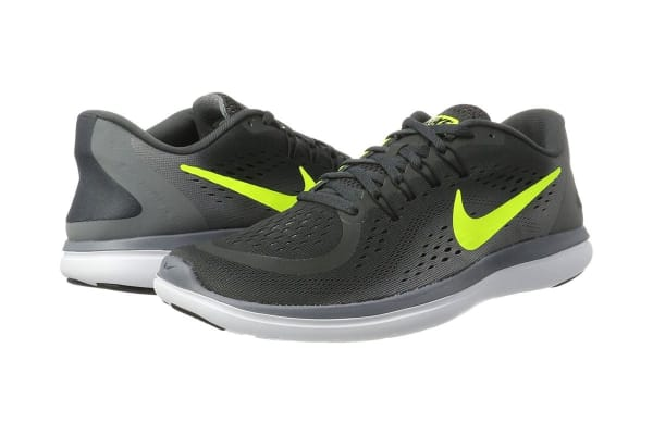 Nike Men's Flex RN 2017 Running Shoe (Anthracite/Volt/Black, Size 12.5)