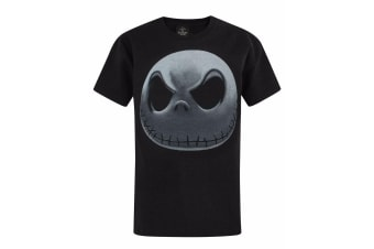 Nightmare Before Christmas Childrens/Boys Jack Skellington T-Shirt (Black/White)