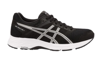 ASICS Women's GEL-Contend 5 Running Shoe (Black/Silver, Size 9.5)