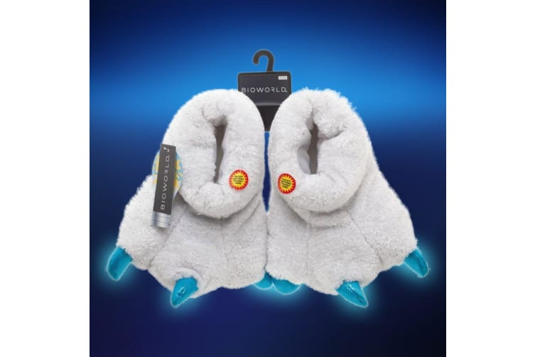 Polar Bear Motion-Activated LED Slippers - Small