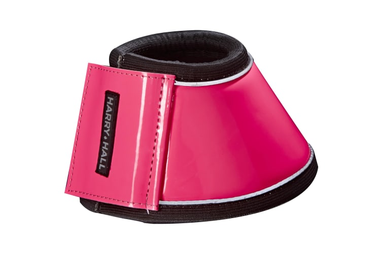 Harry Hall Hi-Viz Over Reach Boots (Pink) (Full)