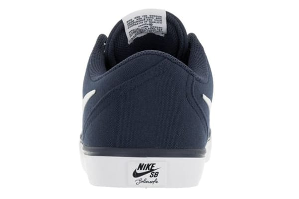 Nike Men's SB Check Solar Canvas Shoe (Midnight Navy/White, Size 10)