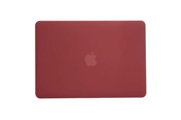 """Marble Frosted Matte Hard Case with Free Keyboard Cover for MacBook Pro 13"""" 2016-2018 A1706 A1989 (With Touch Bar)-Matte Wine Red"""