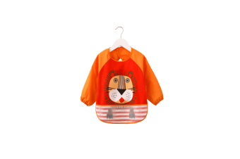 Baby Bibs Waterproof And Wipeable-Eat And Play Smock Apron(6-36 Months) - 3 Orange
