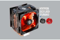 Coolermaster Hyper 212X TURBO 2x Red LED Fan. 9 - 36 dBA CPU Cooler, Skylake and AMD AM4 Ryzen Support