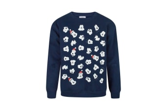 Disney Childrens Boys Mickey Mouse Faces Christmas Sweatshirt (Blue) (11-12 Years)