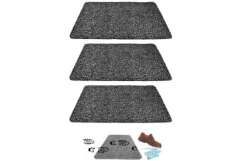 3pk Super Clean Microfiber Non Slip Step Mat Doormat Rug Water Absorption Carpet