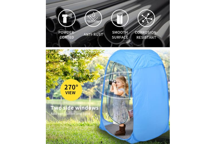 POP UP Camping Tent Outdoor Portable Sun Shade Fishing Weather Shelter Blue