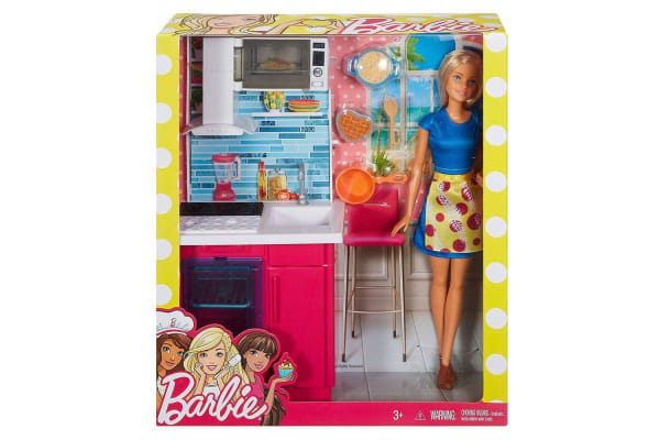 Barbie Doll and Kitchen Playset