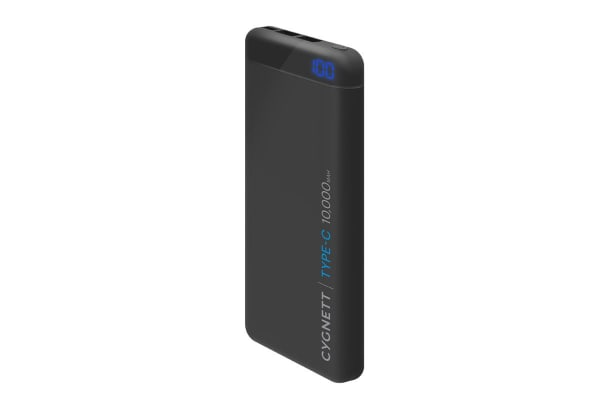 Cygnett ChargeUp Pro 10000 mAh 18W USB-C Power Bank - Black (CY2219PBCHE)