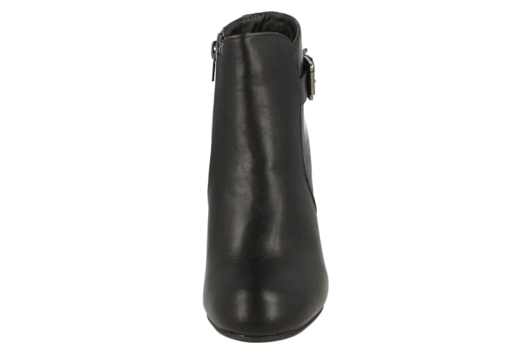 Spot On Womens/Ladies High Heeled Buckled Ankle Boots (Black) (6 UK)