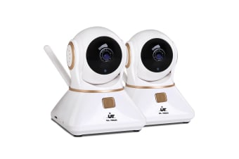 UL-TECH 1080P Wireless IP Camera 2 Pack (White/Gold)