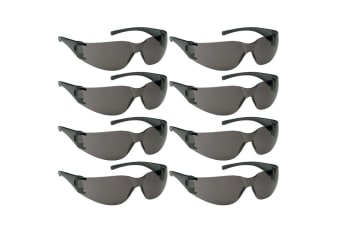 8PK Jackson Safety Glasses V10 Element Lens Smoke/Black UVA/UVB Eye Protection