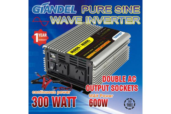 Image of Pure Sine Wave Inverter Thermal Overload Protection 300W