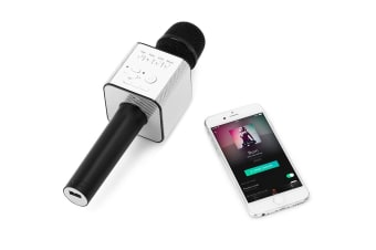 Portable Bluetooth Karaoke Microphone with Built-in Speaker (Black)