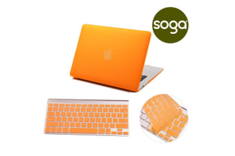 Crystal Hardshell Case + Keyboard cover for Apple Macbook Orange