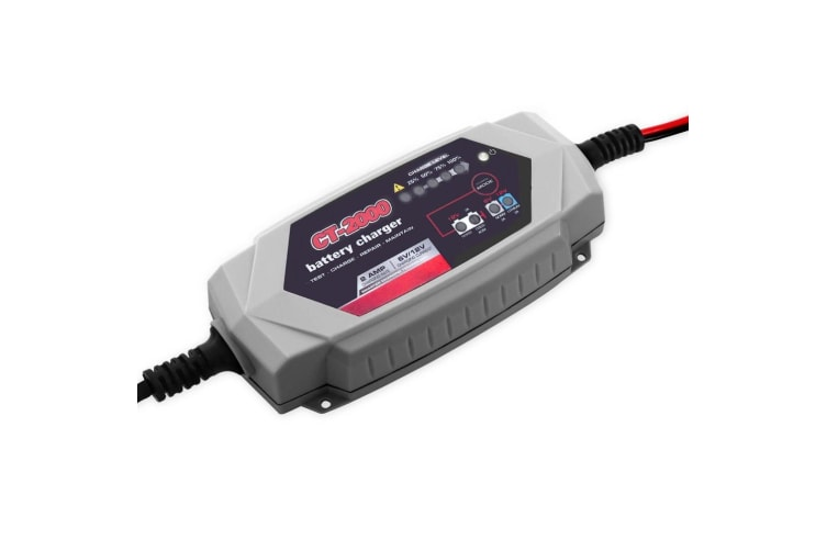 Smart Battery Charger 2A 12V 6V Automatic AGM Car Truck Boat Motorcycle