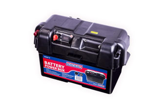 Matson Power Battery Box Agm Deep Cycle Dual System 12v Usb Isolator 130ah New