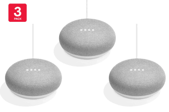 Google Home Mini (Chalk) - Australian Model - 3 Pack
