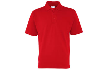 RTXtra Mens Premium Pique Knit Polo Shirt (Red)