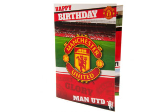 Manchester United FC Musical Birthday Card (Red)