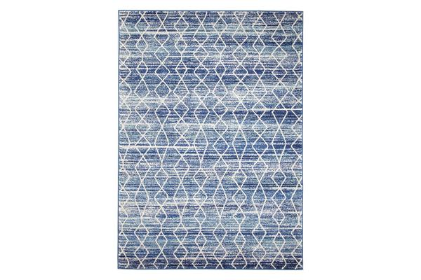 Culture Blue Transitional Rug 330x240cm