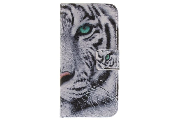 For iPhone XS X Wallet Case Tiger Styled High-Quality Protective Leather Cover