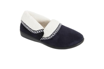 Slumberzzz Womens/Ladies Soft Thermal Slippers (Navy)