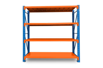 Baumr-AG 1.5m x 2m Metal Warehouse Racking Storage Garage Shelving Steel Shelves 4 Tier
