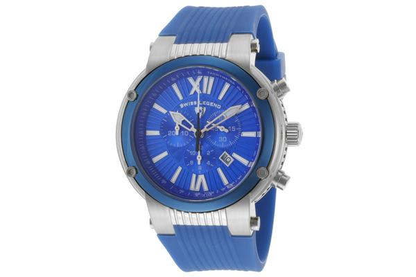 Swiss Legend Men's Legato Cirque Blue Textured Dial Blue Silicone (SL-10006-03-BLB)