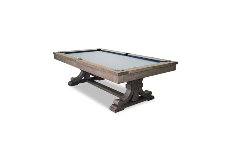 8FT LUXURY SLATE POOL / BILLIARDS / SNOOKER TABLE W/ DINING TOP FREE GIFT