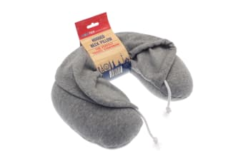 Home & Living Hooded Neck Pillow (Grey) (One Size)