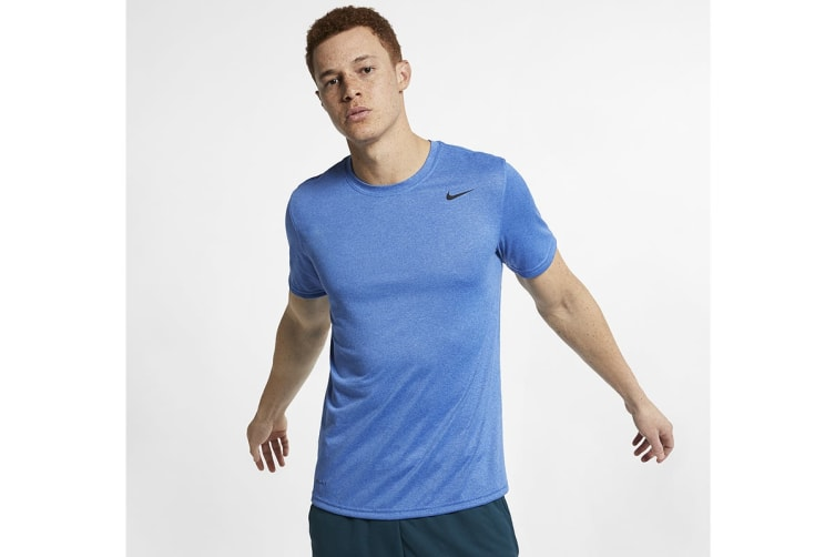 Nike Men's Ledgend 2.0 Dri-Fit Tees (Light Blue/Black, Size M)
