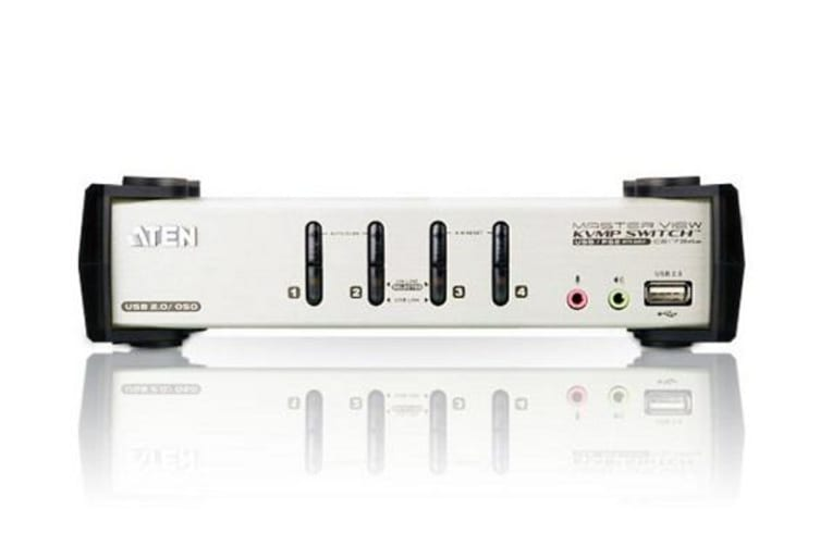 ATEN 4 Port USB VGA KVMP Switch with Audio, OSD and USB 2.0 Hub - Cables