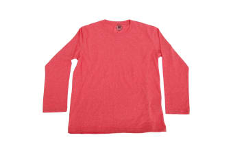 Russell Older Boys Long Sleeve HD T-Shirt (Red Marl) (13-14 Years)