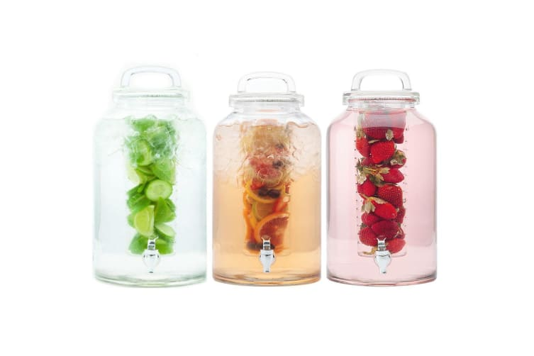3pc Maxwell & Williams Refresh 8.5L Water Glass Drink Dispenser Infuser Beverage
