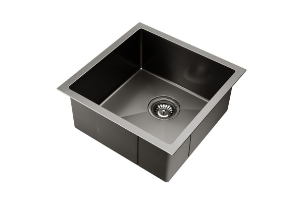 Kitchen Sink with Waste Strainer 44 x 44cm (Charcoal)