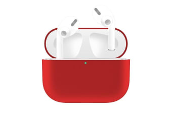 For AirPods Pro Case  Silicone Protective Earphone Cover  Dust-proof  Dirt-resistant  Red