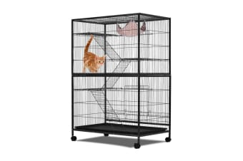 4-Level Pet Home Cat Bird Cage w/Lock at Bottom